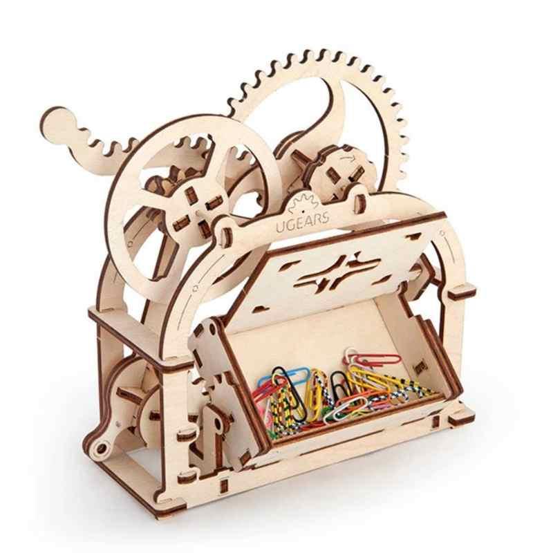 toys- mechanical wood model box