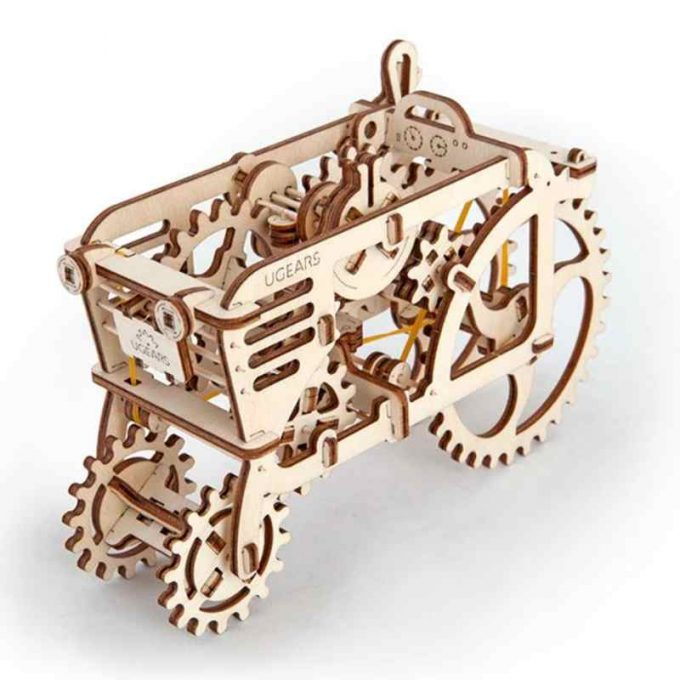 3d puzzle-tractor-wood material